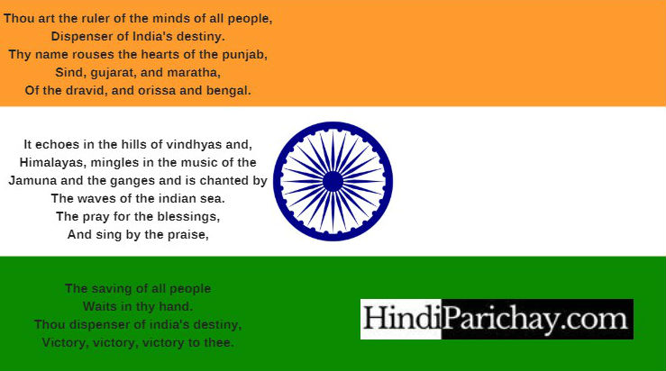 Indian National Anthem Lyrics in English Download
