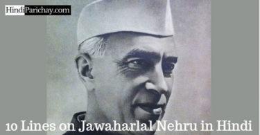 10 Lines on Jawaharlal Nehru in Hindi